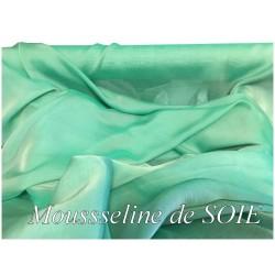 Mousseline De Soie Vert Émeraude couture Au Mètre.