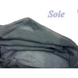 Tissu En Soie Uni en Bleu Indigo, Couture