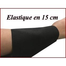 Elastique En 15 Cm Noir Ultra Large Au Mètre Pour La Couture.