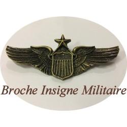 Emblème Insigne Décoration, Militaire En Broche Mètal Bronze.