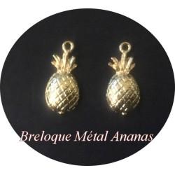 Breloque Pendentif Ananas En Métal Doré Pour La Customisation Collier, Loisirs Créatifs