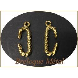 Breloque Pendentif En Métal Doré Pour La Customisation Collier, Bracelets, Loisirs Créatifs