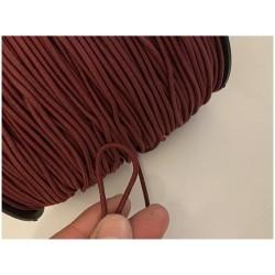 Cordon Elastique BORDEAUX Rond En 3 mm A Coudre Pour Loisirs Créatifs.