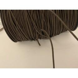 Cordon Elastique MARRON CHOCO Rond En 3 mm A Coudre Pour Loisirs Créatifs.