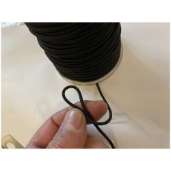 Cordon Elastique NOIR Rond En 2 mm X 100 Mètres A Coudre Pour Loisirs Créatifs.