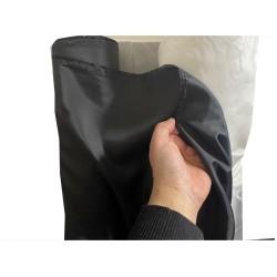 Doublure Acetate Au Mètre En Tissu Noir En 150 Cm A Coudre Pour Robes, Manteaux Et Confections.