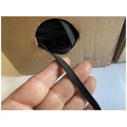 Elastique Plat En 8 mm X 300 Mètres Noir Pour Masques De Protections A Coudre