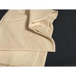 Tissu Coton Beige Au Mètre En Grande Largeur