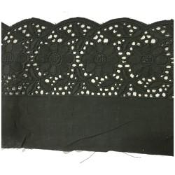 Broderie Anglaise Noir En 14 Cm Brodé Coton Au Mètre