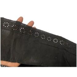 Broderie Anglaise Brodé sur Tissu Noir coton Noir E n Grande Largeur Au Mètre