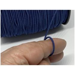 Cordon Elastique Bleu Navy Rond En 2 mm A Coudre Pour Loisirs Créatifs.