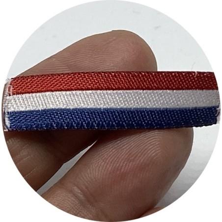 Ruban Etiquette Tissé Tricolore Par 25 Pièces A Coudre - Etiquette Bleu Blanc Rouge