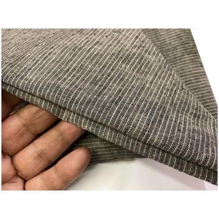 Tissu Coton Gris Chiné Au Mètre En Grande Largeur
