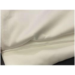 Tissu Popeline Ivoire En Coton Au Mètre En Grande Largeur