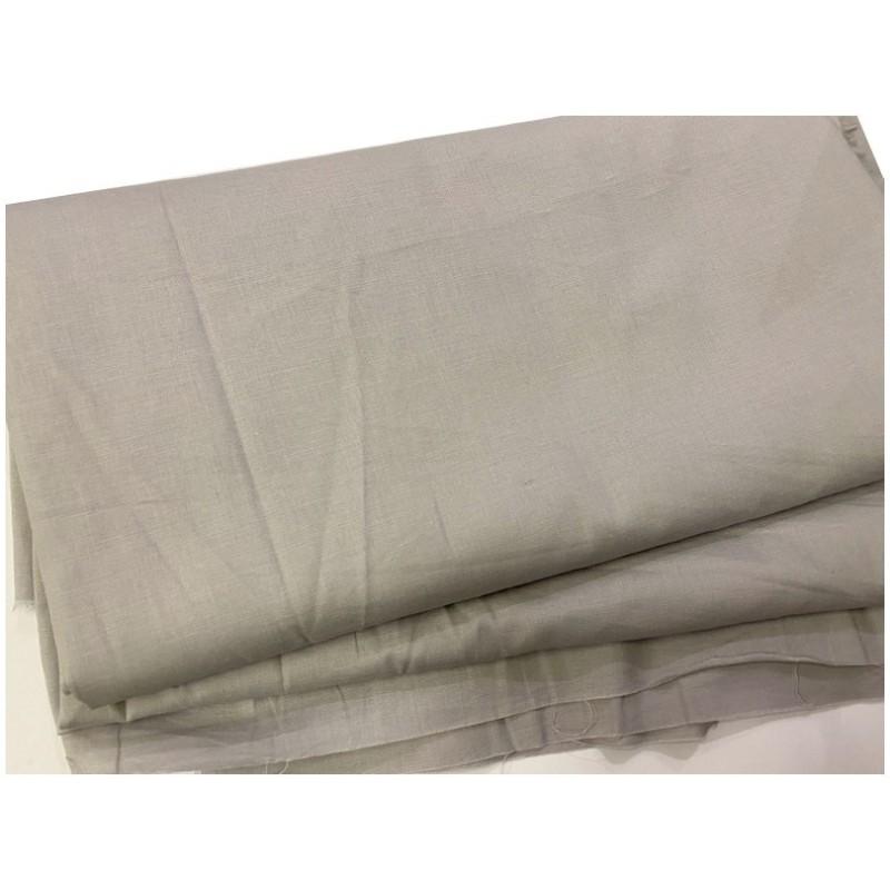 Tissu Coton Gris Perle Au Mètre En Grande Largeur