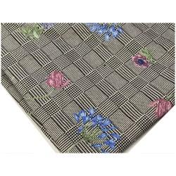 Tissu Coton Prince De Galle Gris Imprimé fleurs Au Mètre En Grande Largeur