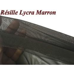 Tissu Résille Lycra au Mètre En Couleur Choco Foncé Pour Justaucorps.