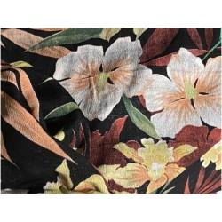 Tissu Crêpe Georgette Imprimé Fleurs A Coudre, pour Décoration et Customisation.