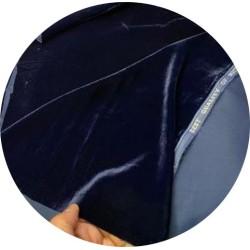 Tissu Velours BLEU MARINE En Grande Largeur Pour Vetements Et Ameublement