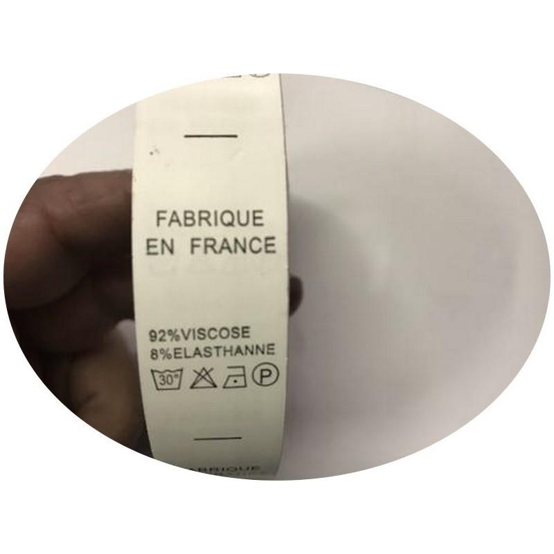 """Etiquettes De Vêtements """" 92 % Viscose 8 % Elasthanne"""" x Par 800 Pièces A Coudre De Composition Textile , Contexture."""