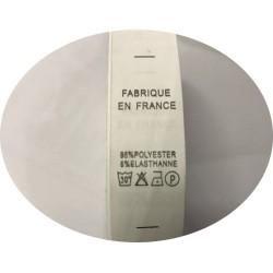 """Etiquettes De Vêtements """" 95 % Polyester 5 % Elasthanne"""" x Par 800 Pièces A Coudre De Composition Textile , Contexture."""