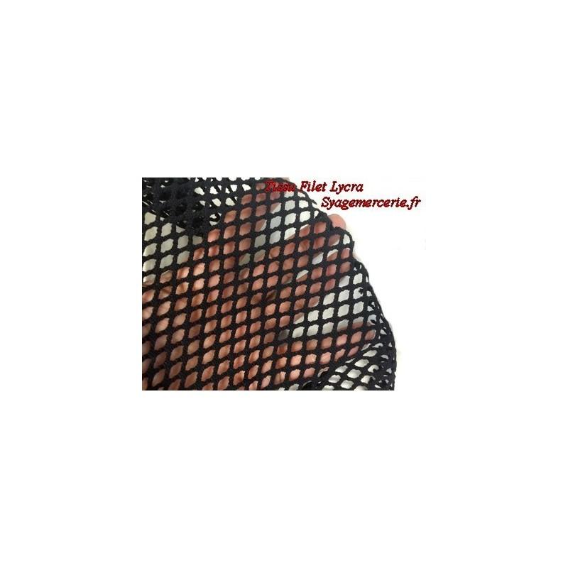 Tissu Filet Lycra au Mètre Noir en 1 m 10 de Largeur.