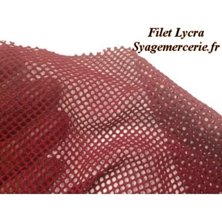 Tissu Filet Lycra au Mètre Couleur  Bordeaux Pour Danse Et Lingerie.