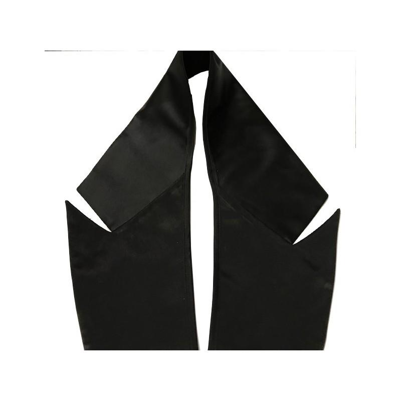 Col Satin Noir A Coudre, Encolure Pour Smoking, Costumes, Customisations.