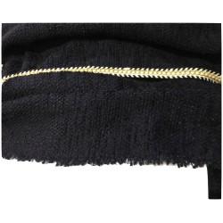 """Tissu Style """"Chanel"""" Tweed Au Mètre En Bleu Marine Haute Couture."""