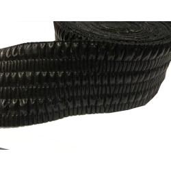 Ruban Simili Cuir Drapé Lycra Au Mètre En 6 Cm Mat Noir A Coudre Pour Vetements Décorations