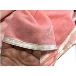 Tissu Velours Rose En Grande Largeur Pour Vetements Et Ameublement