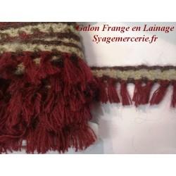 Frange En Laine Au Mètre en 4,5 Cm A Coudre.