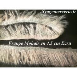 Frange Charleston au Mètre en Mohair en 4.5 cm Ecu