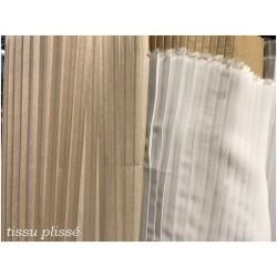 Tissu Crêpe Plissé Polyester Ivoire A Coudre, Décoration et Customisation.