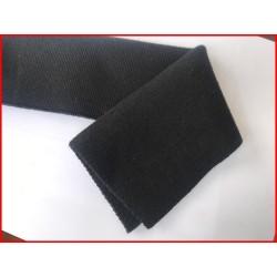 Bande De Bord-Cote En Tissu Maille Noir Replié Pour Poignée Manche et Bas de Blousons