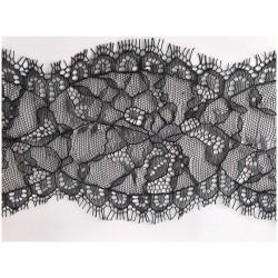 Dentelle Chantilly Fine Couture En 10 Cm A Coudre Noir.