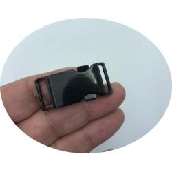 Boucle Attaches En mètal Noir Poli en 4 cm pour Ceintures Et Décorations