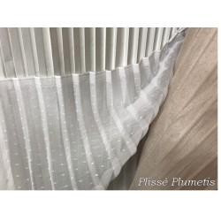 Tissu Tulle Plumetis Plissé Blanc Couture, Décoration et Customisation.