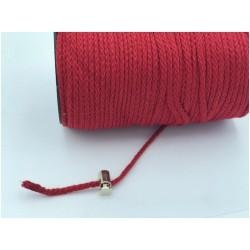 Cordon Coton Tréssé Rouge Au Mètre