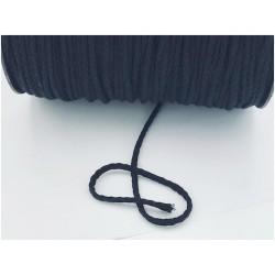 Cordon Coton Tréssé Noir Au Mètre
