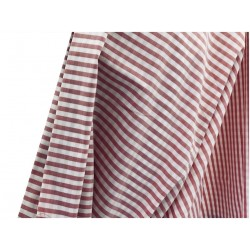 Tissu Coton Stretch Imprimé Rayure ROUGE Au Mètre En Grande Largeur