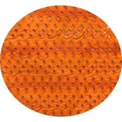 Broderie Anglaise Orange En Tissu Ajourée En Coton Au Mètre En Grande Largeur