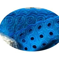 Broderie Anglaise Turquoise En Tissu Ajourée En Coton Au Mètre En Grande Largeur