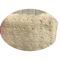 Broderie Anglaise Saumon En Tissu Ajourée En Coton Au Mètre En Grande Largeur