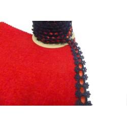 Galon au mètre en passementerie 2 cm noir et rouge