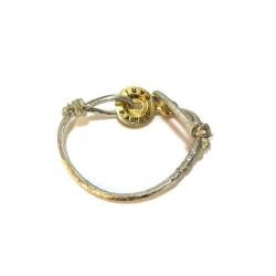 Bracelet élastique fil argent