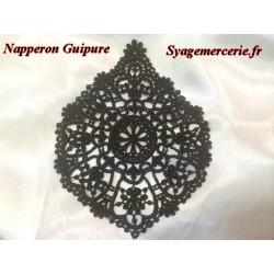 Napperon Guipure Noir Pour Loisirs Créatifs Et Customisations.