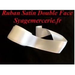Ruban Satin Au Mètre En 40 mm Blanc A Coudre Pour La Décoration Et Loisirs Créatifs