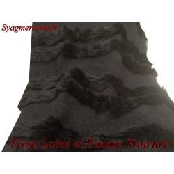 Tissu Fourrure au Mètre Imtiation en Noir et Laine