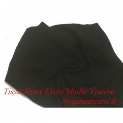 Tissu jersey lycra au mètre viscose noir
